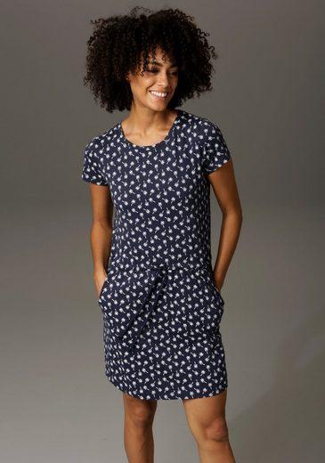 Aniston CASUAL Sommerkleid mit Palmen oder Punkten bedruckt - Du hast die Wahl