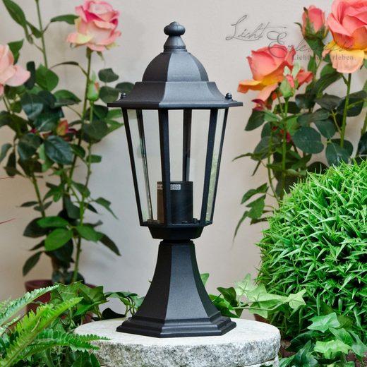 Licht-Erlebnisse Sockelleuchte »VELENCE Wegeleuchte Schwarz Laterne wetterfest Garten Haus Lampe«