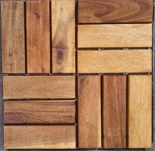 MERXX Terrassenplatten »Akazie«, 30x30 cm, 10-St., Klickfliesen Akazie