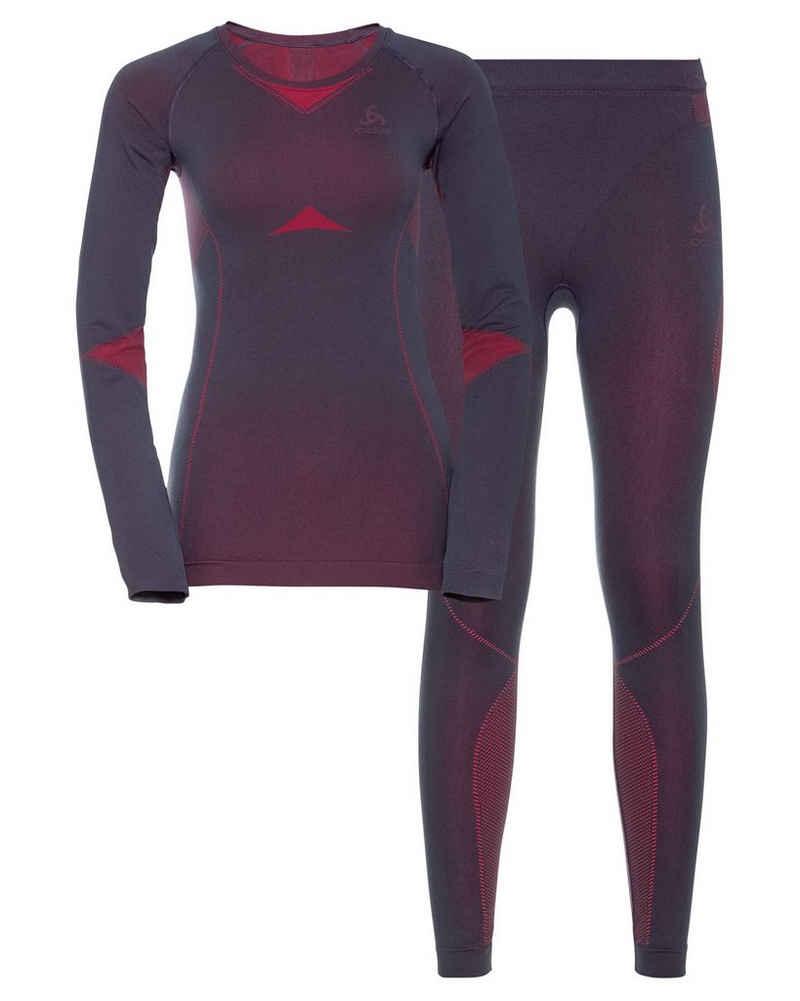 Odlo Funktionsunterhemd »Damen Funktionsunterwäsche Lang Slim Fit 2-teilig«