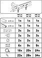 Gardinenstange »Gardinenstangen Set Kegel 2-Lauf Ø 20 mm«, GARDINIA, Ø 2 mm, 2-läufig, Fixmaß, edelstahlfarben, Bild 2