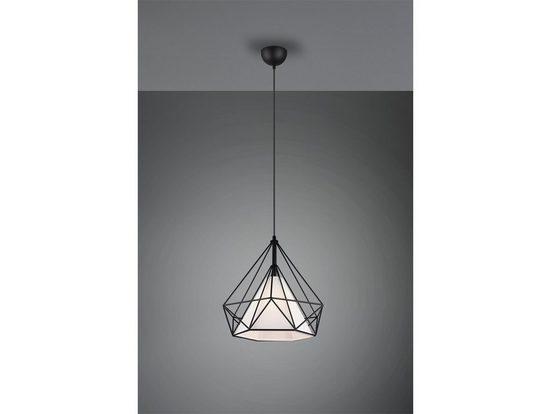 TRIO LED Pendelleuchte, Industrial-Style Draht Gitter-Lampe Decken-Leuchte Industrie-Lampe Esszimmer-Lampe für über Esstisch Kücheninsel Couchtisch