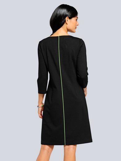 Alba Moda Jerseykleid mit neon Paspel