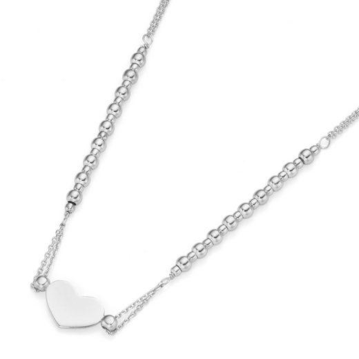 Smart Jewel Herzkette »Mittelteil Herz, Silber 925«