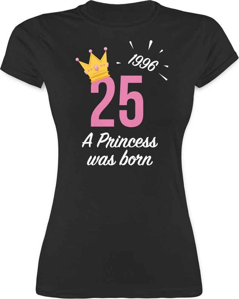 Shirtracer T-Shirt »25 Geburtstag Mädchen Princess 1996 - Geburtstag Geschenk - Damen Premium T-Shirt« Geburtstagsgeschenk Birthday Party