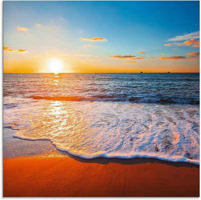 Artland Glasbild »Sonnenuntergang und das Meer«, Strand (1 Stück)