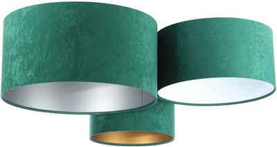 Jens Stolte Leuchten Deckenleuchte »Astrid«, 3flammig, Textildeckenleuchte, grün, 3er Stoffdeckenleuchte grün