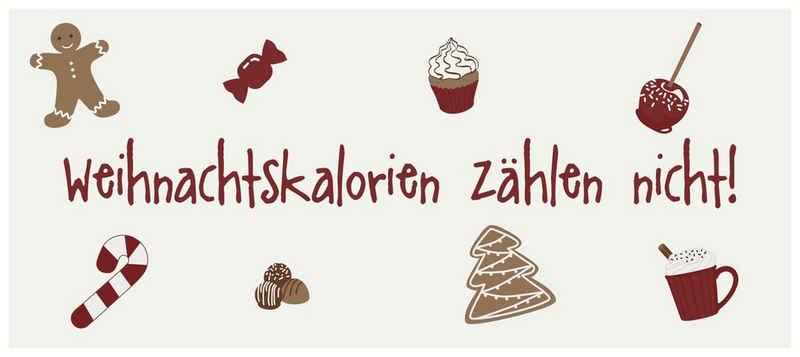 """Ib Laursen Metallschild »Laursen - Wand- Metall- Schild """"Weihnachtskalorien zählen .."""" Weihnachten Shabby«"""