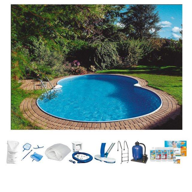 Clear Pool Set: Achtformpool Premium Mallorca (10-tlg.)