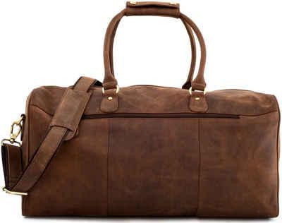 LEABAGS Reisetasche »Tokio«, Reisetasche aus echtem Büffel-Leder im Vintage Look