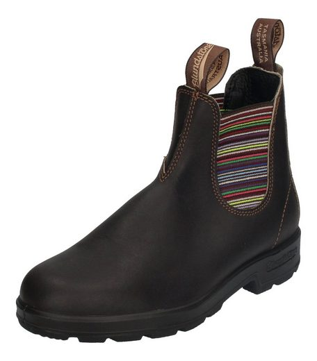 Blundstone »1409« Chelseaboots Brown With Striped Elastics