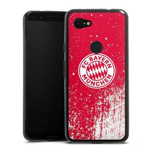DeinDesign Handyhülle »Splatter Rot - FCB« Google Pixel 3a, Hülle FC Bayern München Offizielles Lizenzprodukt FCB