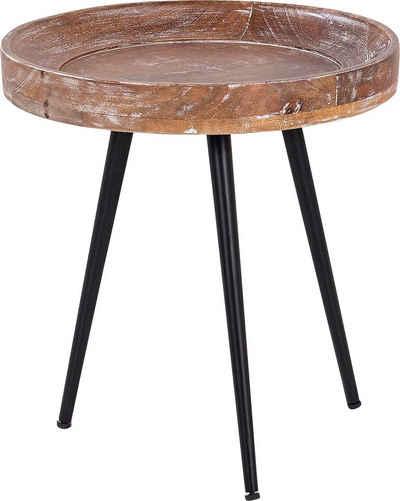 byLIVING Beistelltisch »Ava«, Massive runde Tischplatte, Durchmesser 38 oder 45 cm