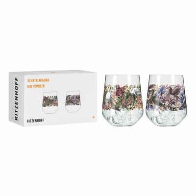 Ritzenhoff Tumbler-Glas »Schattenfauna Gin-Tumbler 2er-Set 001«, Kristallglas, Made in Germany