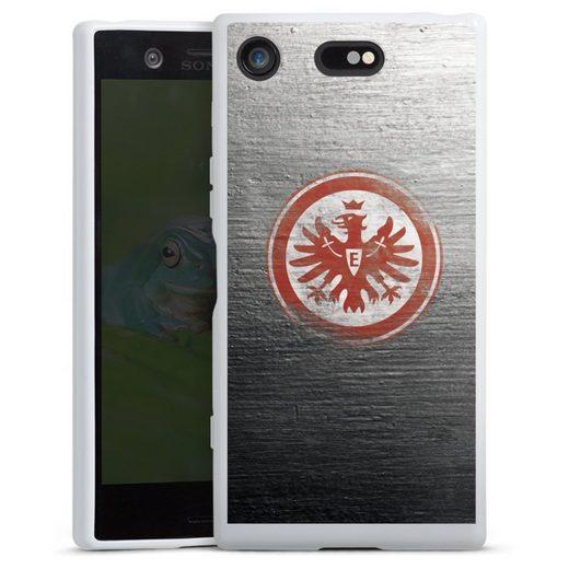 DeinDesign Handyhülle »Eintracht Logo Scratched« Sony Xperia XZ 1 Compact, Hülle Eintracht Frankfurt SGE Logo
