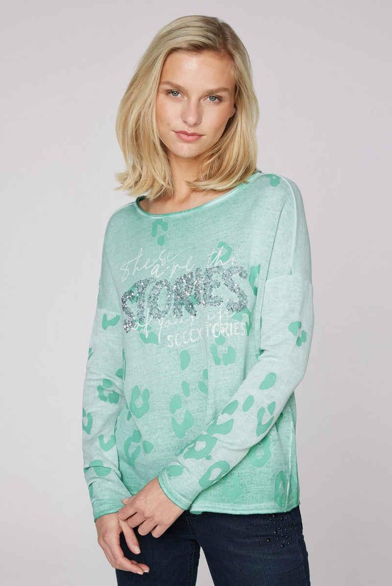 SOCCX Sweater mit Pailletten