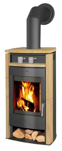 Fireplace Kaminofen Paris 6 kW, Holzfach, grau