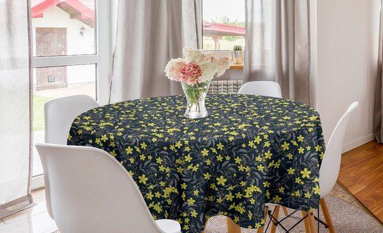 Abakuhaus Tischdecke »Kreis Tischdecke Abdeckung für Esszimmer Küche Dekoration«, Blume Botanische Blütenblätter und Laub