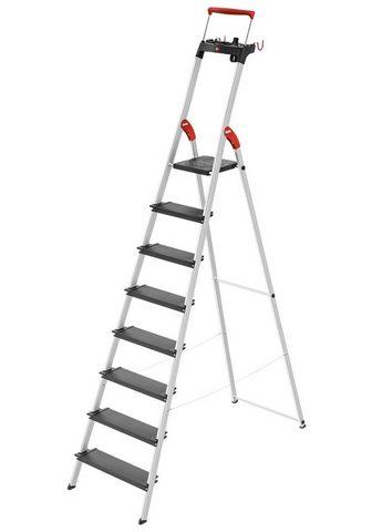 Hailo Stehleiter »L100« 8 Stufen max. Arbeit...