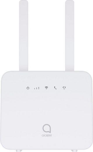 Alcatel »HH42« Mobiler Router, (CAT4 / 150 Mbit/s Download / 50 Mbit/s Upload), inklusive 2 externer LTE Antennen, WLAN 802.11 b/g/n, Hotspot-Funktion, WPS, 2 x 100 Mbit/s LAN-Port Weiß