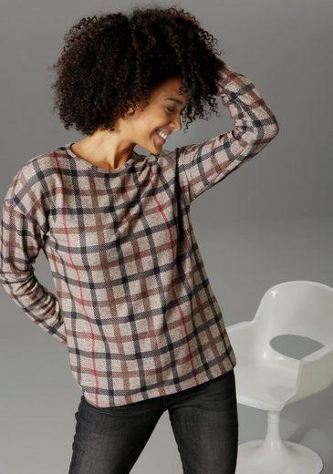 Aniston CASUAL Sweatshirt im Karo-, Wellen- oder Zickzack- Dessin - welches ist dein Favorit?
