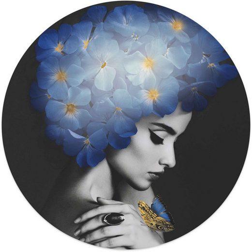 Reinders! Wandbild »Wandbild Frau mit Schmetterlingen Tiere - Frauengesicht - Modern«, Frau (1 Stück)