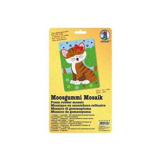 URSUS Malvorlage »Moosgummi Mosaik Katze«