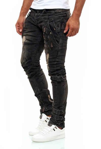 KINGZ Slim-fit-Jeans mit tollen Akzenten