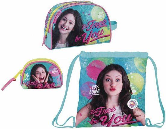 Disney Soy Luna Sporttasche »Disney Soy Luna - Turnbeutel, Kosmetiktasche und Geldbeutel« (Reißverschluss, Mädchen), Geringes-Gewicht
