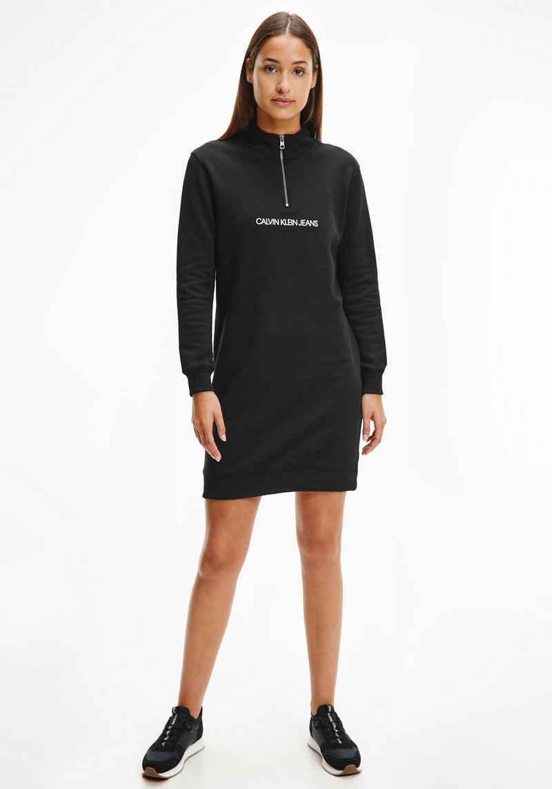 Calvin Klein Jeans Sweatkleid »VERTICAL MONOGRAM HALF ZIP DRESS«