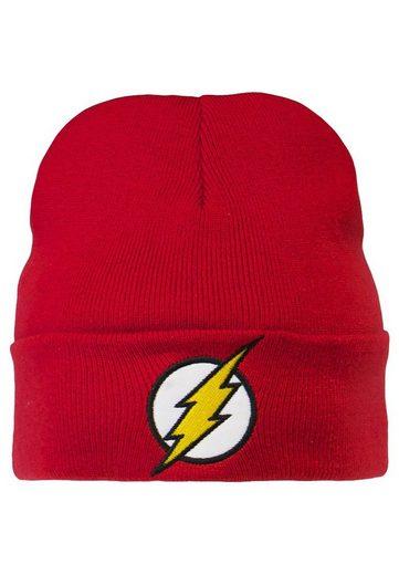 LOGOSHIRT Strickmütze mit originalem The Flash-Logo