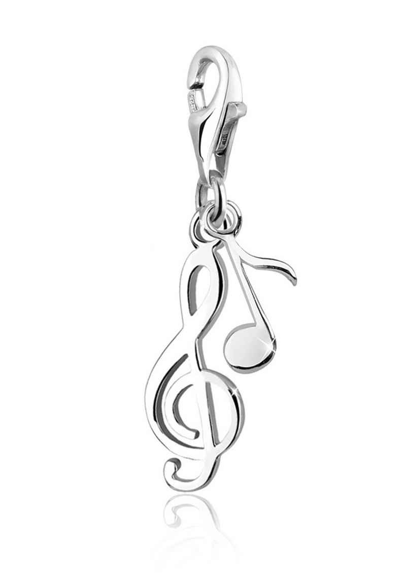 Elli Charm-Einhänger »Notenschlüssel Musik Melodie 925 Sterling Silber«, Note