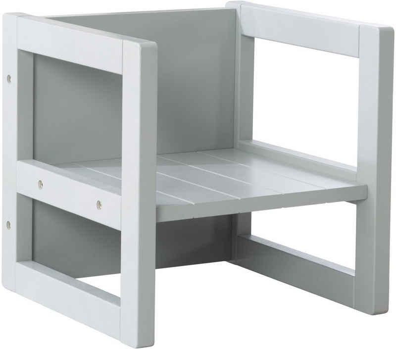 roba® Sitzhocker, für Kinder mit 3 verschiedenen Sitzhöhen; auch als Tisch verwendbar