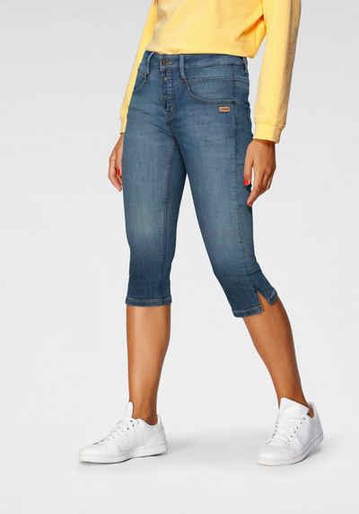 Capri-Jeans mit weitem Bein 78-916 in Dark Denim 36