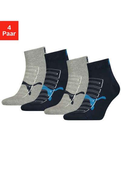PUMA Kurzsocken (4-Paar) mit trendigem Markenlogo