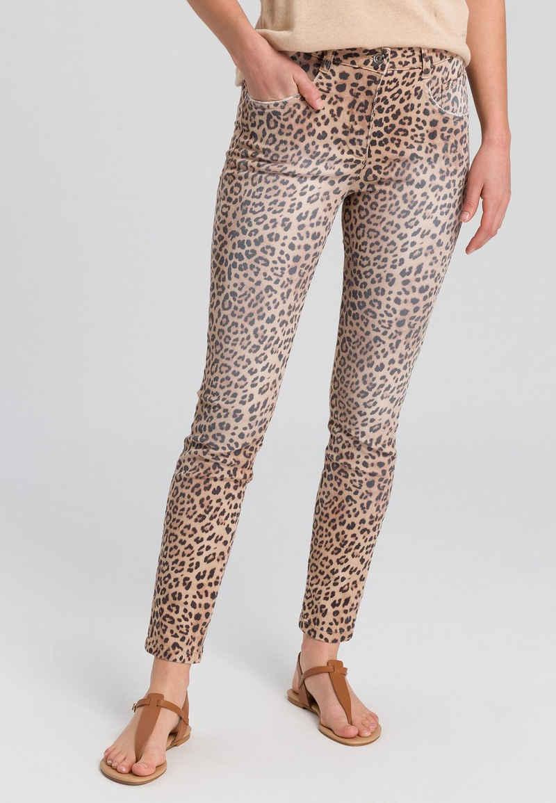 MARC AUREL 5-Pocket-Jeans im Leoprint