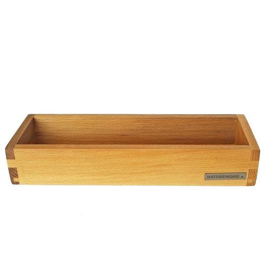 NATUREHOME Tablett »Kerzen-Tablett schmal, div. Ausführungen«, Holz