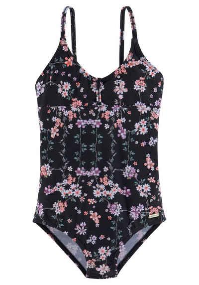 Sunseeker Badeanzug, mit sommerlichem Print