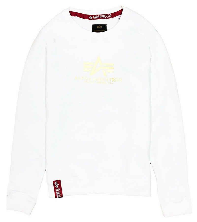 Alpha Industries Sweater »New Basic Foil Print« (1-tlg)