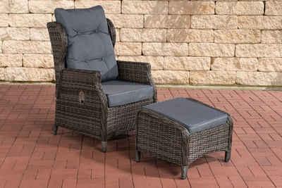 CLP Gartensessel »Verstellbarer Sessel Breno inkl. Fußhocker«, aus Polyrattan geflochten