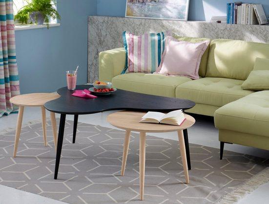 Guido Maria Kretschmer Home&Living Couchtisch »Calluna«, Calluna», mit elegant geschwungener Tischplatte in modernem Design, Breite 120 cm