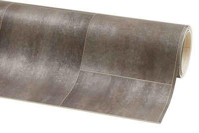 misento Vinylboden »Fliesenoptik grau-braun«, trittschalldämmend, für Fußbodenheizung geeigent