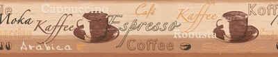 A.S. Création Bordüre »Only Borders«, aufgeschäumt, Retro, mit Kaffeemotiv