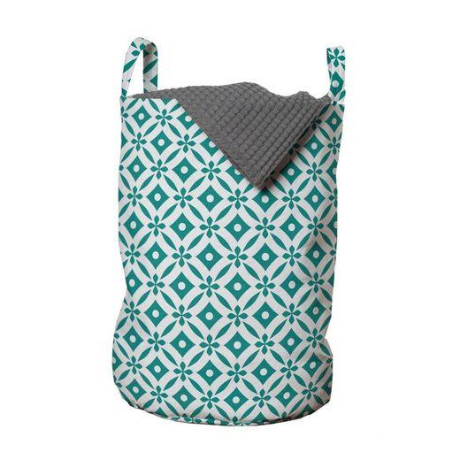 Abakuhaus Wäschesack »Wäschekorb mit Griffen Kordelzugverschluss für Waschsalons«, Geometrisch Vier-Blütenblatt-Blumen-Form