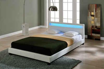 Corium Polsterbett, LED-Bett »Paris« mit beleuchtetem Kopfteil in diversen Größen und Farben