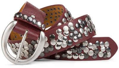 styleBREAKER Nietengürtel »Nietengürtel im Vintage Style« Nietengürtel im Vintage Style