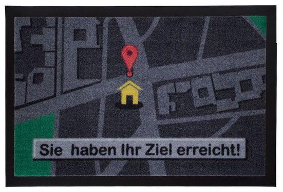 Fußmatte »Sie haben Ihr Ziel erreicht Türmatte 60x40 cm«, Mr. Ghorbani, Rechteckig, Höhe 3 mm