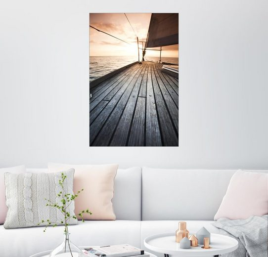 Posterlounge Wandbild, Segelboot auf dem offenen Meer
