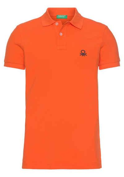 United Colors of Benetton Poloshirt mit Logostickerei