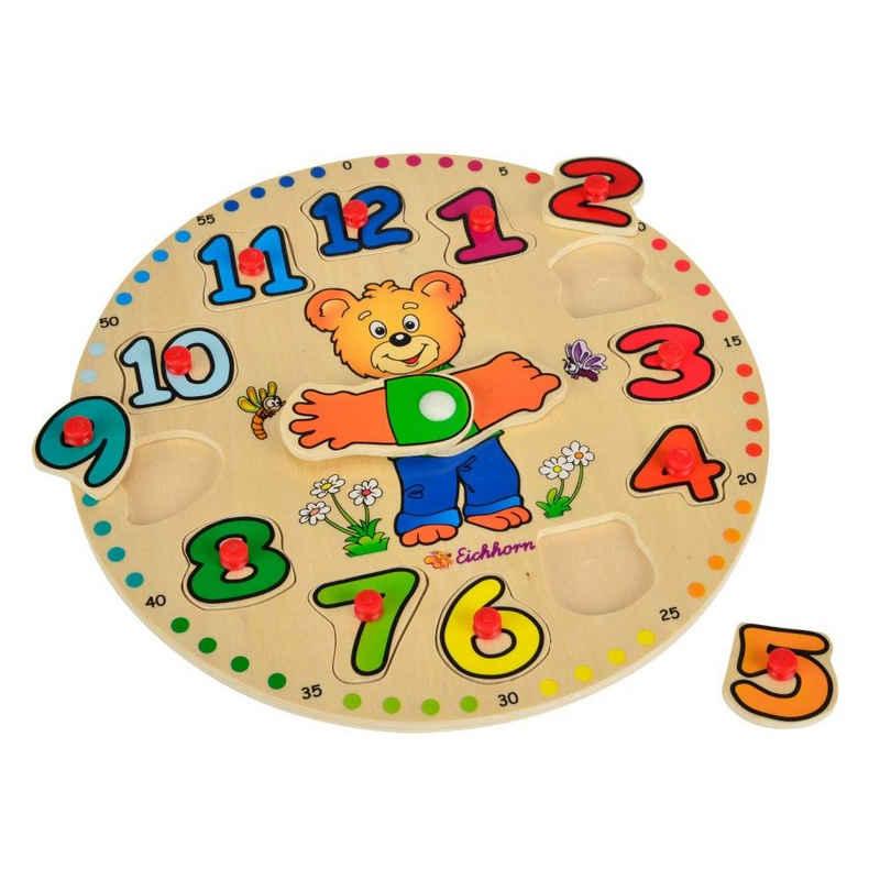 Eichhorn Puzzle »Lernuhr Bär 13-tlg ab 2 Jahren«, 13 Puzzleteile